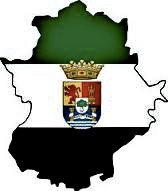 Bandera con el escudo extremeño. www.sierradegatadigital.es