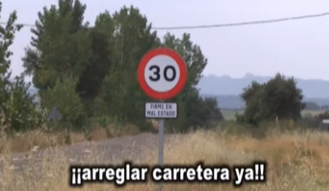 VIDEO DENUNCIA. Una carretera ruleta rusa
